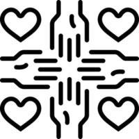 icono de línea para voluntario vector