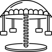 Line icon for carousel vector