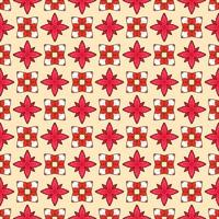 Pattern retro geometric red and white gradient Vector illustration