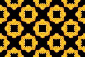 Pattern square flower golden gradient vector illustration