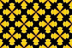 Pattern Abstract Flower golden gradient vector illustration