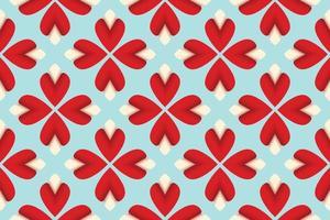 Pattern flower pollen red gradient vector illustration