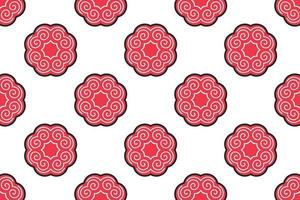 Abstract pattern circle stripes retro style vector illustration