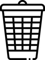 Line icon for bin vector