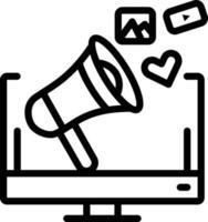 Line icon for social media campaign vector