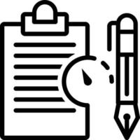 Line icon for long term contract vector
