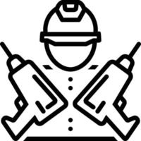 Line icon for drill master vector