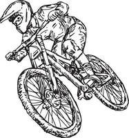 cycling mountain bike - vector illustration