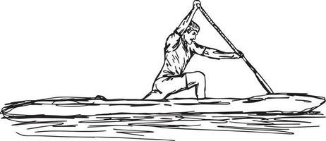 CANOE SLALOM player - vector illustration