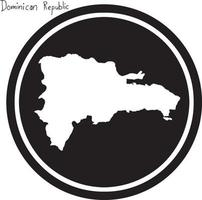 vector illustration white map of Dominican Republic