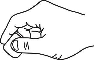 Cerrar la mano con goma de borrar - ilustración vectorial vector