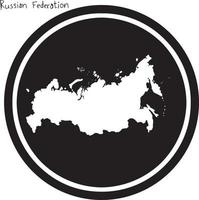 vector illustration white map of Russian Federation