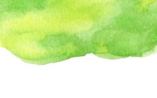 Green abstract watercolor background with space for text. vector