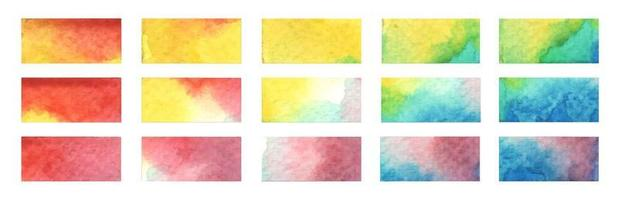 Stylish highlight elements for design. Watercolor illustration. vector