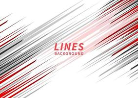 Abstract red, black and grey stripe lines diagonal background. vector