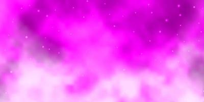 Light Pink vector background with small and big stars.