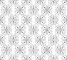 Abstract seamless pattern - symmetrical flower doodle mandala vector
