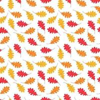 Vector seamless pattern of falling leaves
