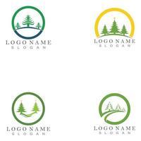 Cedar tree Logo template illustration design vector
