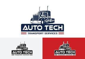 automotive service logo template. truck logo concept vector