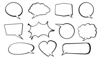 Bubble speech collection vector