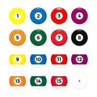 Billiard ball collection vector
