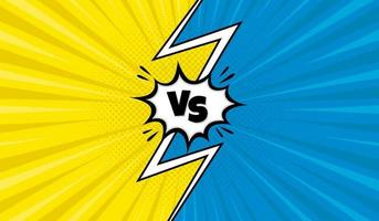 Yellow and blue versus background vector