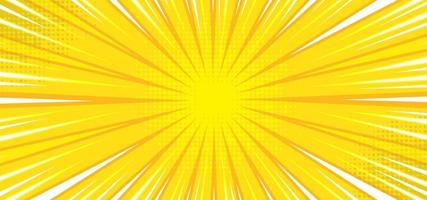 Yellow retro background with sunburst vector