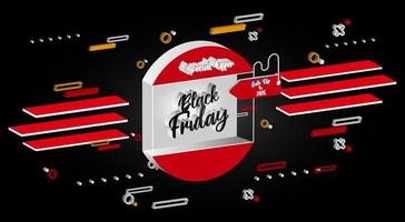 colorful black friday promo banner vector