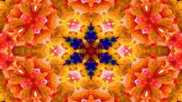 Paint Ink Brush Kaleidoscope photo