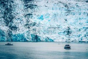 Tracy Arm fjord scenery in June in Alaska photo