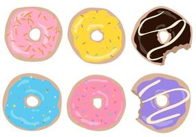 Decorations cafe Cute set of donuts in glaze on an isolated collection vector