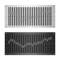 24 band audio equalizer isolated on white background vector