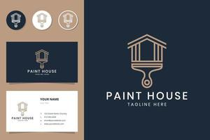 paint house line logo design vector