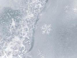 copo de nieve de cerca foto