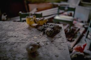 Pripyat, Chernobyl, Ukraine, Nov 22, 2020 - Kindergarden in Chernobyl photo