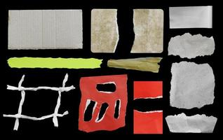 Pieces of torn paper texture background with copy space for text photo