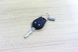 Car keys on wood background photo