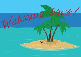 Welcome back open touristic resort after lock down vector