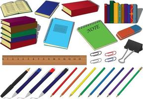 Back to school education supplies collection vector illustration