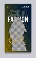 plantilla de historia de redes sociales de venta de moda vector