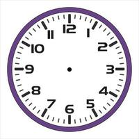 illustration Simple wall clock background design for printing vector