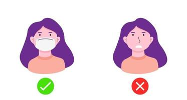 No entry without face mask or wear mask icon vector