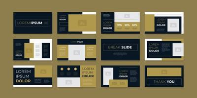 modern and elegant presentation slide layout design vector