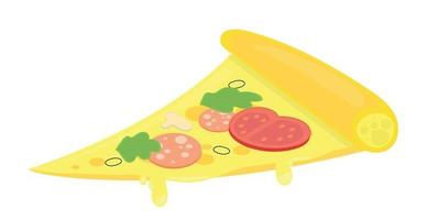 Realistic pizza with pepperoni and different types vector