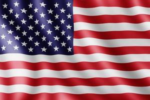 bandera de estados unidos, ilustración realista foto