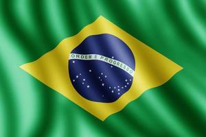 bandera de brasil, ilustración realista foto