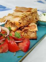 Greek traditional food porn trendy cuisine photo