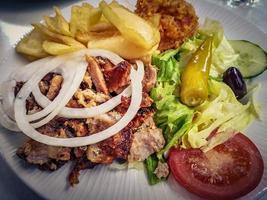 Greek food gyros photo