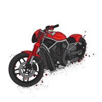 una hermosa motocicleta. ilustración vectorial para una postal o un cartel vector